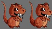Fourrure de T-Rex croquis