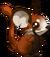 Fourrure de panda roux