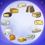 New Year's 2016 - moon with all cheeses