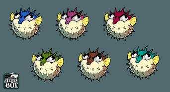 Diodon - Coloris différents
