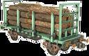 Flatcar-for-wood