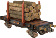 Small-flatcar-for-wood