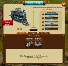 Typhon Locomotive panel