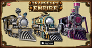 Transport Empire promotional new trains released