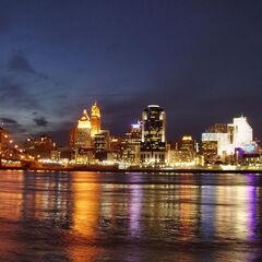 Skyline of Cincinnati during the night