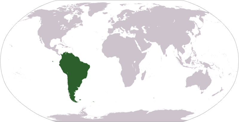 South america travel wiki fandom powered by wikia locationsouthamerica map of world with south america gumiabroncs Images