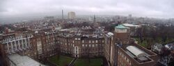 Belfast panorama from queens tower