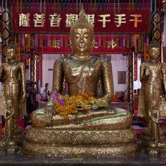 Interior of Buddhist temple Ayutthaya, Thailand