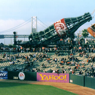 The old fashioned glove and Coke bottle at AT&T Park, home of the San Francisco Giants. Go Giants!