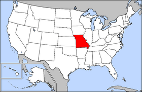 Image Map Of USA Highlighting Missouripng Wikia Travel - Map of usa missouri