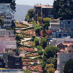 Lombard Street from Coit Tower