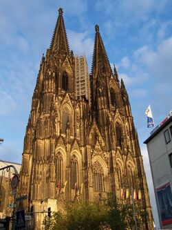 Cologne cathedral at dusk