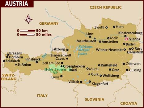 Austria travel wiki fandom powered by wikia map gumiabroncs Gallery