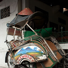 Bike rickshaw, Jogjakarta, Java, Indonesia