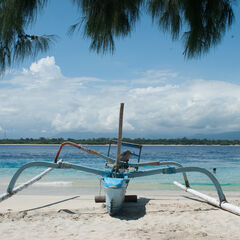 Boat on the beach, Gili Islands, Indonesia