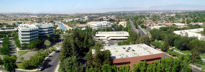 A panoramic view of Bakersfield