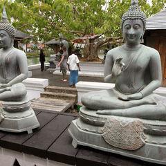 Buddha's statue inside the Seema Malakaya Temple