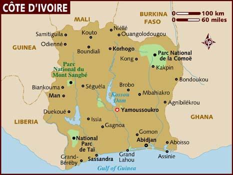 Image - Ivory Coast map 001.jpg | Travel Wiki | FANDOM powered by Wikia