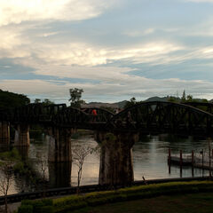 Bridge on the river Kwai, Kanchinaburi, Thailand