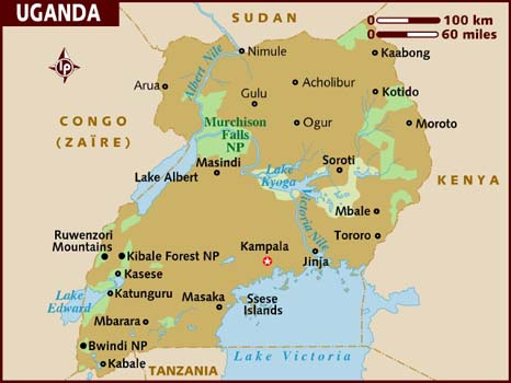 Uganda travel wiki fandom powered by wikia map sciox Gallery