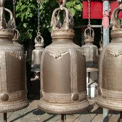 Bells in Buddhist temple Ayutthaya, Thailand