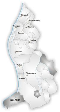 Karte Gemeinde Balzers