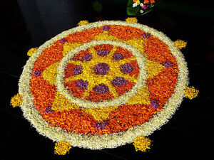 Onam Flowers Pookkalam Kerala India