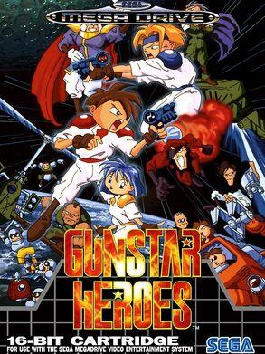 Gunstarr Heroes Mega Drive Cover
