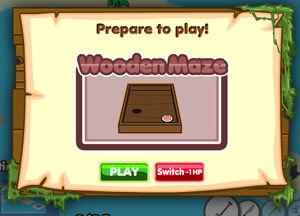 Wooden Maze title
