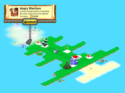 Christmas Tree Island locked