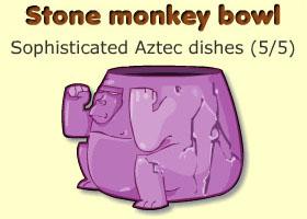 Stone monkey bowl
