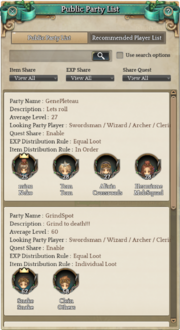 ToS PartySearch
