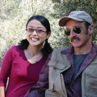 Lee with Michael Gross