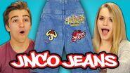 TEENS REACT TO 90s FASHION - JNCO JEANS