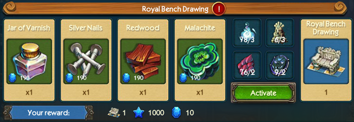 Royal Bench Drawing Collection