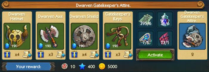 Dwarven Gatekeeper Attire Collection