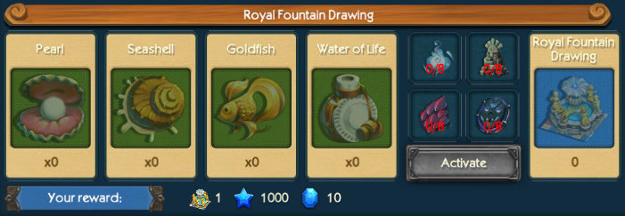 Royal Fountain Drawing Collection