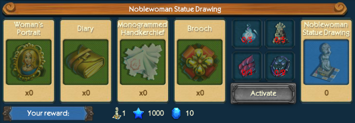 Noblewoman Statue Drawing Collection