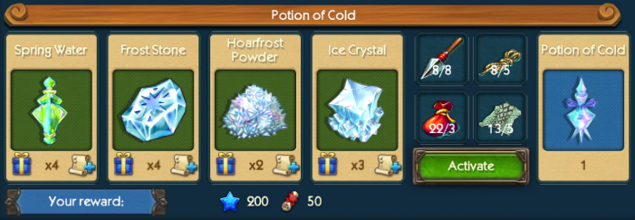 Potion Of Cold Catalog Collection