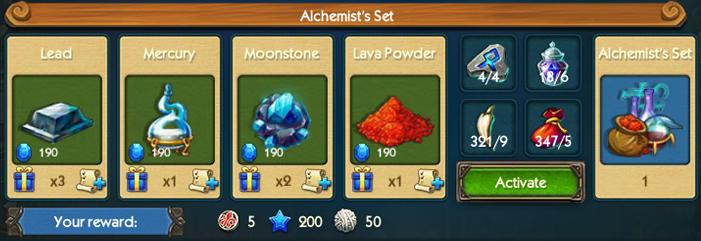 Alchemist Set Collection