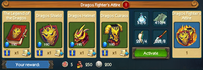Dragos Fighters Attire Collection