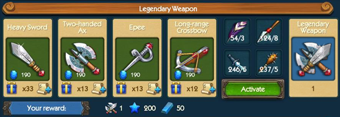 Legendary Weapon Collection
