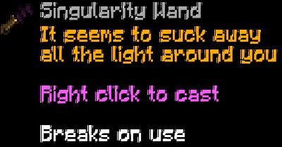 Singularitywand