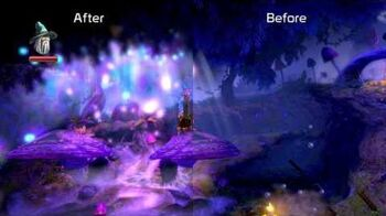 Trine 2 Director's Cut for Wii U graphics comparison after January 2013 update