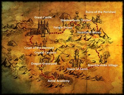 Kingdom map - black
