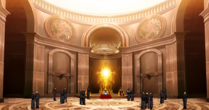Papal throne room