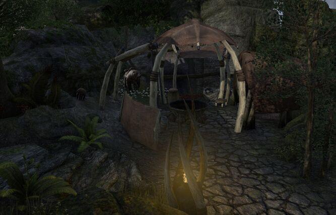 Bosquet campement de la meulière
