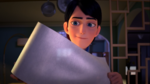 Jim with roll of paper