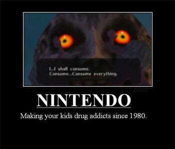 Majora s Mask Moon Drug adict by Nisshoke