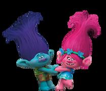 Dreamworks Trolls - Branch and Princess Poppy